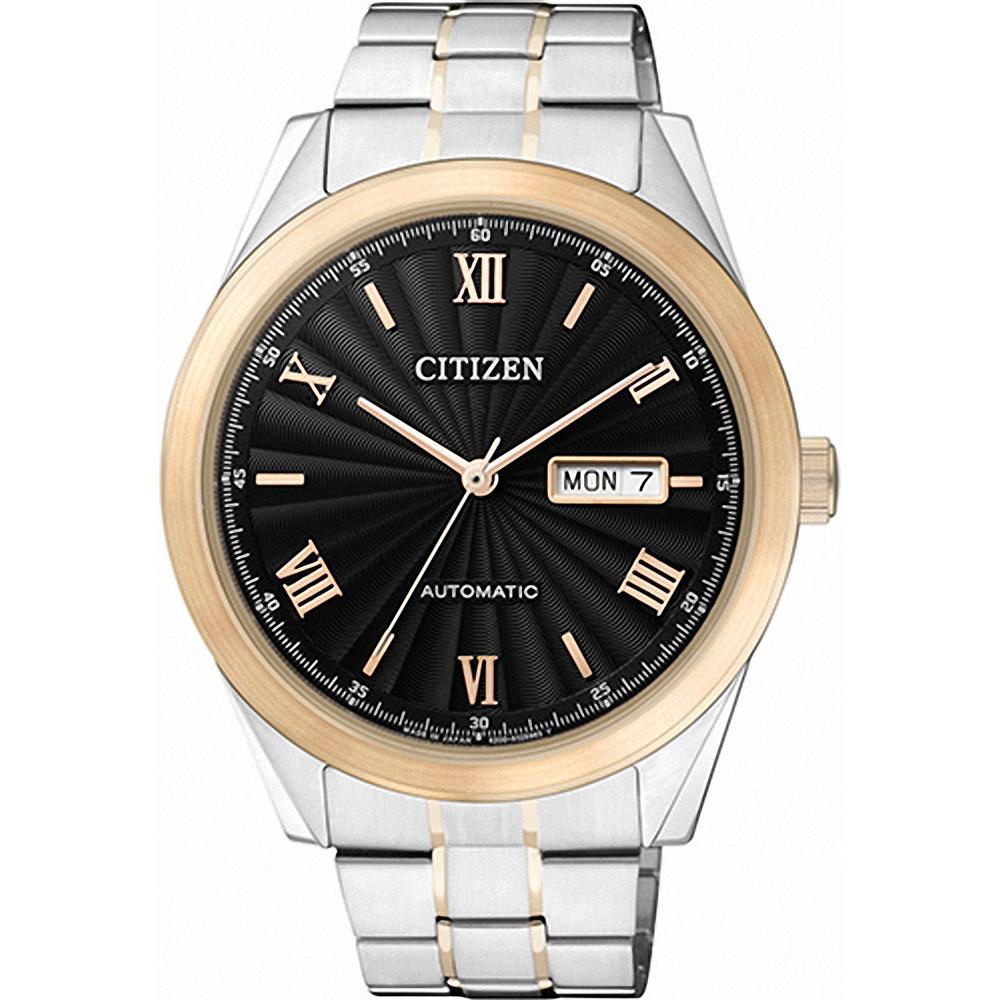 CITIZEN星辰 羅馬帝國專業機械錶(NH7514-59E)-黑x金/41mm @ Y!購物
