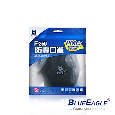 藍鷹牌 立體專業PM2.5成人防霾口罩 5入*5包