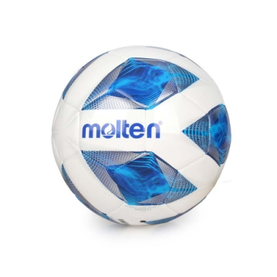 MOLTEN #5合成皮足球-訓練 5號球 F5A2000 白藍銀