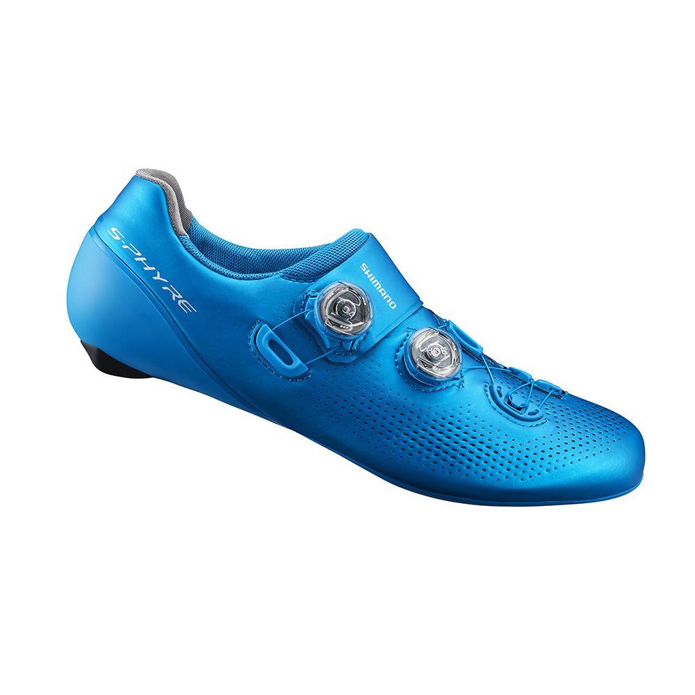 【SHIMANO】RC901 男性公路車競賽級車鞋 寬楦 藍色
