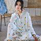天使霓裳-夏日火鶴-二件式長袖孕婦哺乳套裝月子服