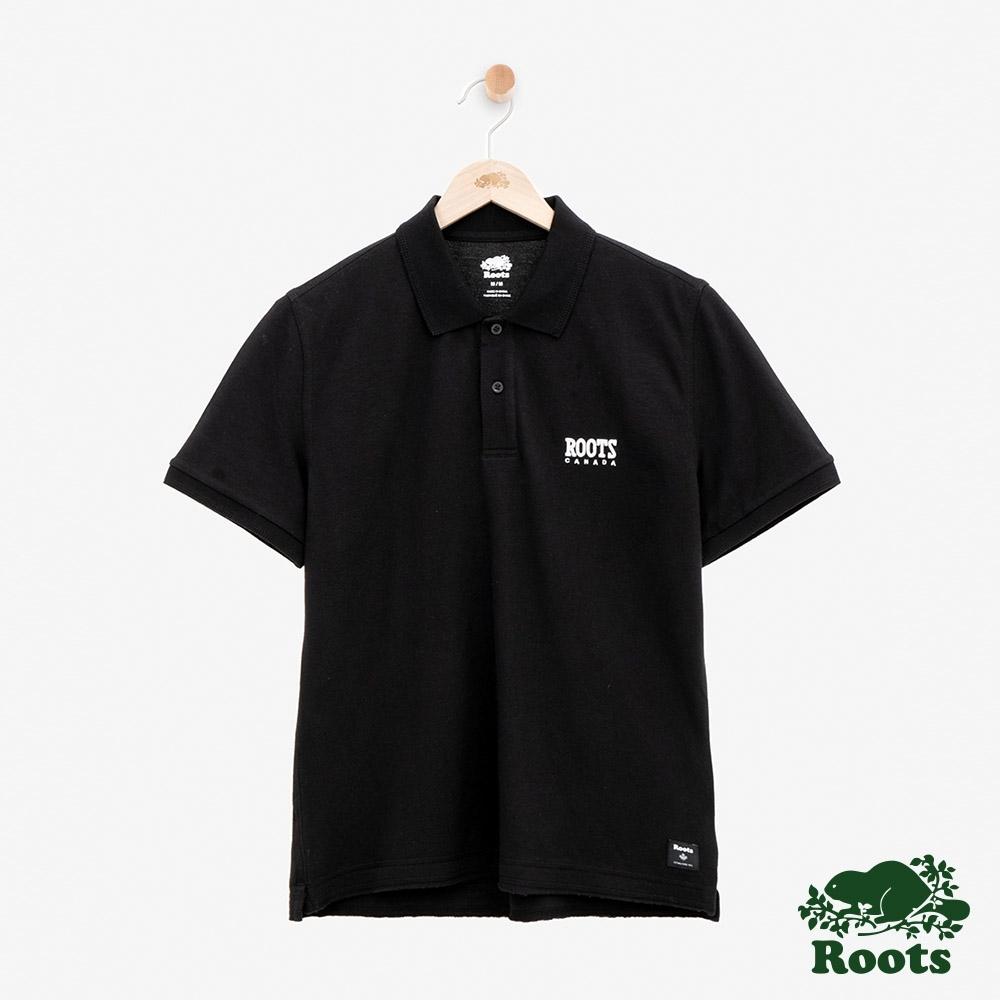 男裝Roots-經典短袖POLO衫-黑