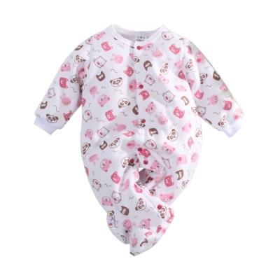 台灣製刷毛厚款嬰兒包腳連身衣 k61041 魔法Baby