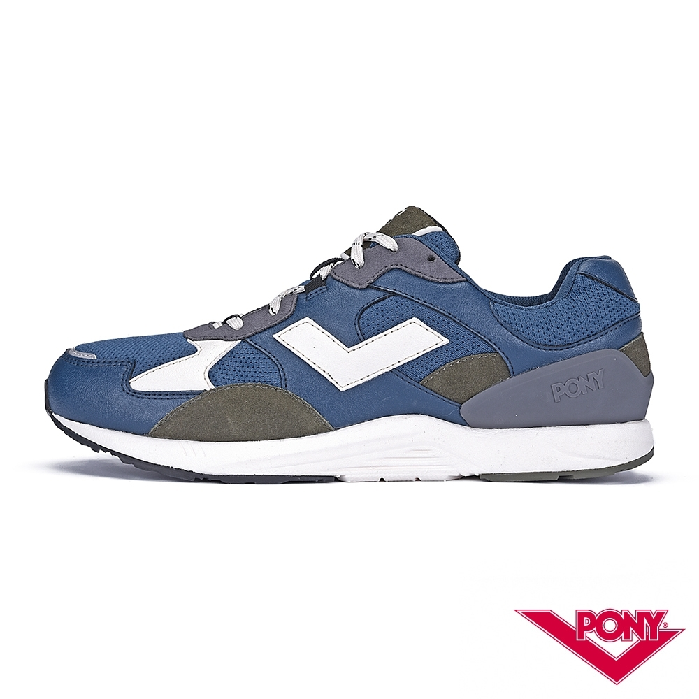 【PONY】BOUNCE系列-復古運動鞋 厚底老爹鞋 潮流 球鞋 男 藍