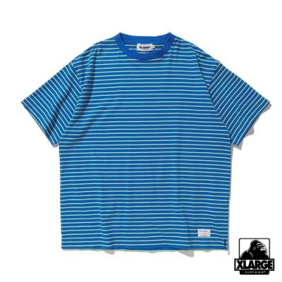 XLARGE S/S BORDER TEE短袖T恤-藍