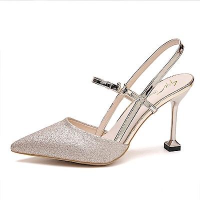 KEITH-WILL時尚鞋館 歐洲款柔美亮眼跟鞋-金色