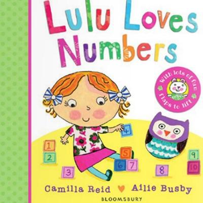 Lulu Loves Numbers 可愛Lulu愛數字翻翻硬頁書