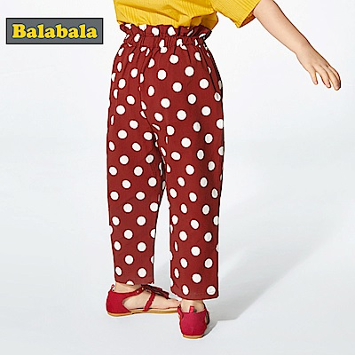 Balabala巴拉巴拉-復古可愛大圓點點純棉長褲-女(3色)