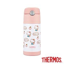 膳魔師 Hello Kitty蘋果篇 不鏽鋼真空保冷瓶0.37L