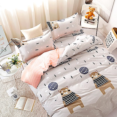 A-ONE 雪紡棉 單人床包/枕套 二件組 熊出沒 MIT台灣製
