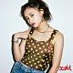 X-girl PRINTED BUSTIER細肩短版上衣-棕 product thumbnail 1