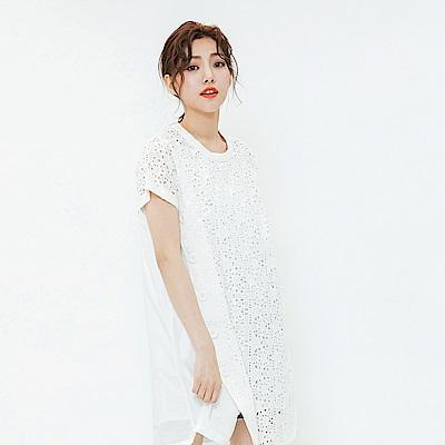 H:CONNECT 韓國品牌 女裝-蕾絲造型洋裝-白