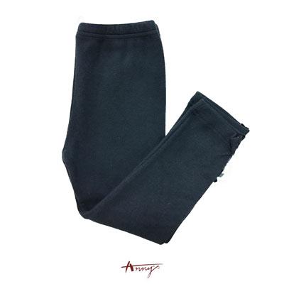 Anny百搭單排立體壓褶荷葉蝴蝶結造型襪褲*6460藍