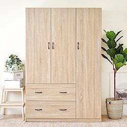《HOPMA》DIY巧收大容量三門二抽衣櫥-寬120 x深49 x高179.5cm