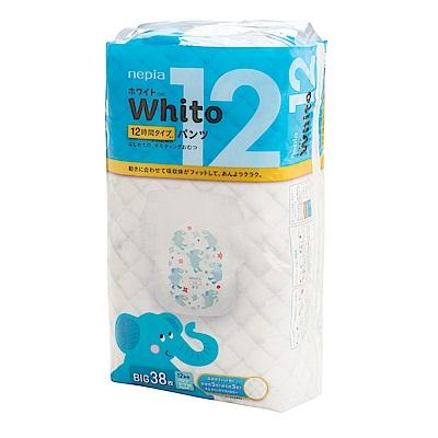 Nepia Whito王子白色系列褲型紙尿褲 日本境內十二小時版 XL 38片/包