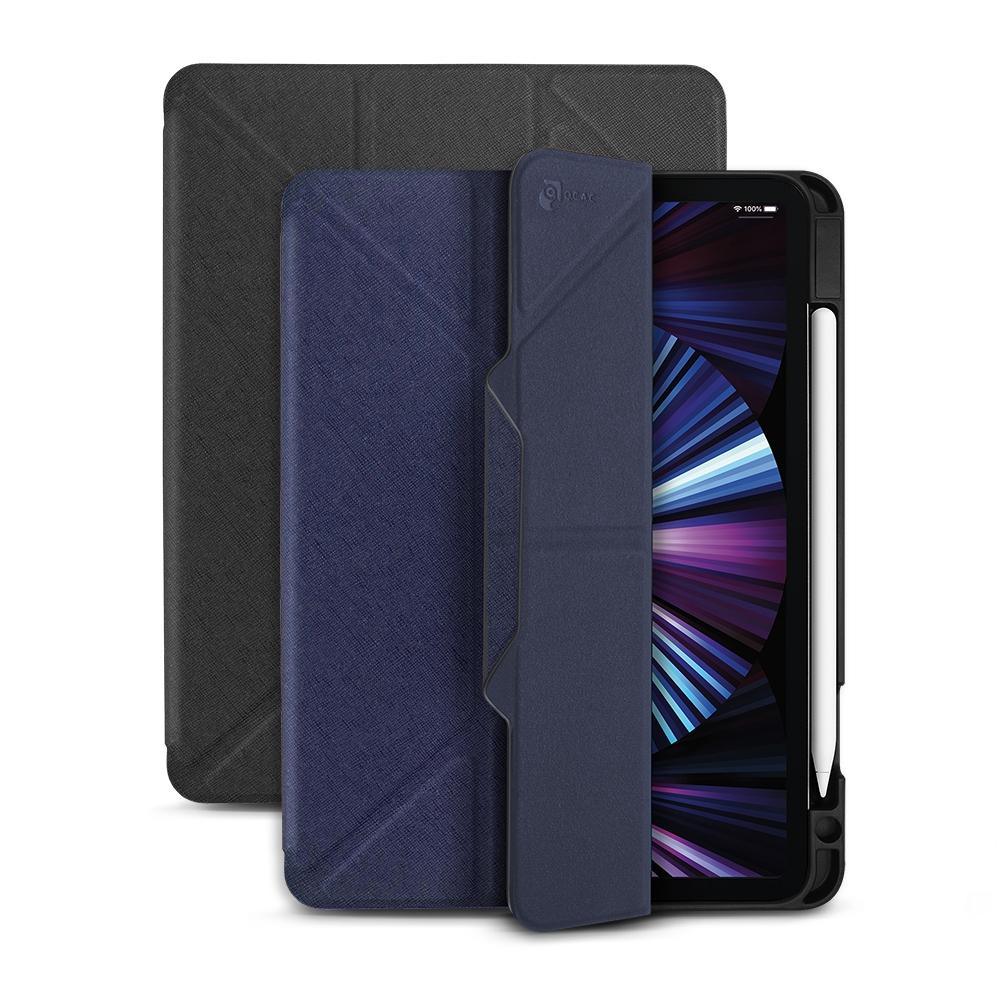 JTL / JTLEGEND iPad Pro 2021 Chic 11吋 相機快取多角度折疊皮套(有筆槽 磁扣版)