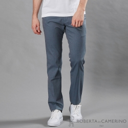 ROBERTA諾貝達 合身版 休閒百搭 純棉休閒褲 灰藍