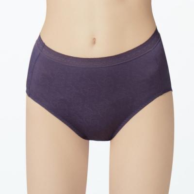 曼黛瑪璉 高腰三角生理褲(花顏紫)