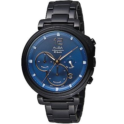 ALBA雅柏休閒生活風格腕錶(AT3E21X1)-藍