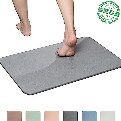 樂嫚妮 加大珪藻土吸水速乾地墊/腳踏墊/浴墊 60X39cm (5色)-通過台灣SGS未含石綿檢測