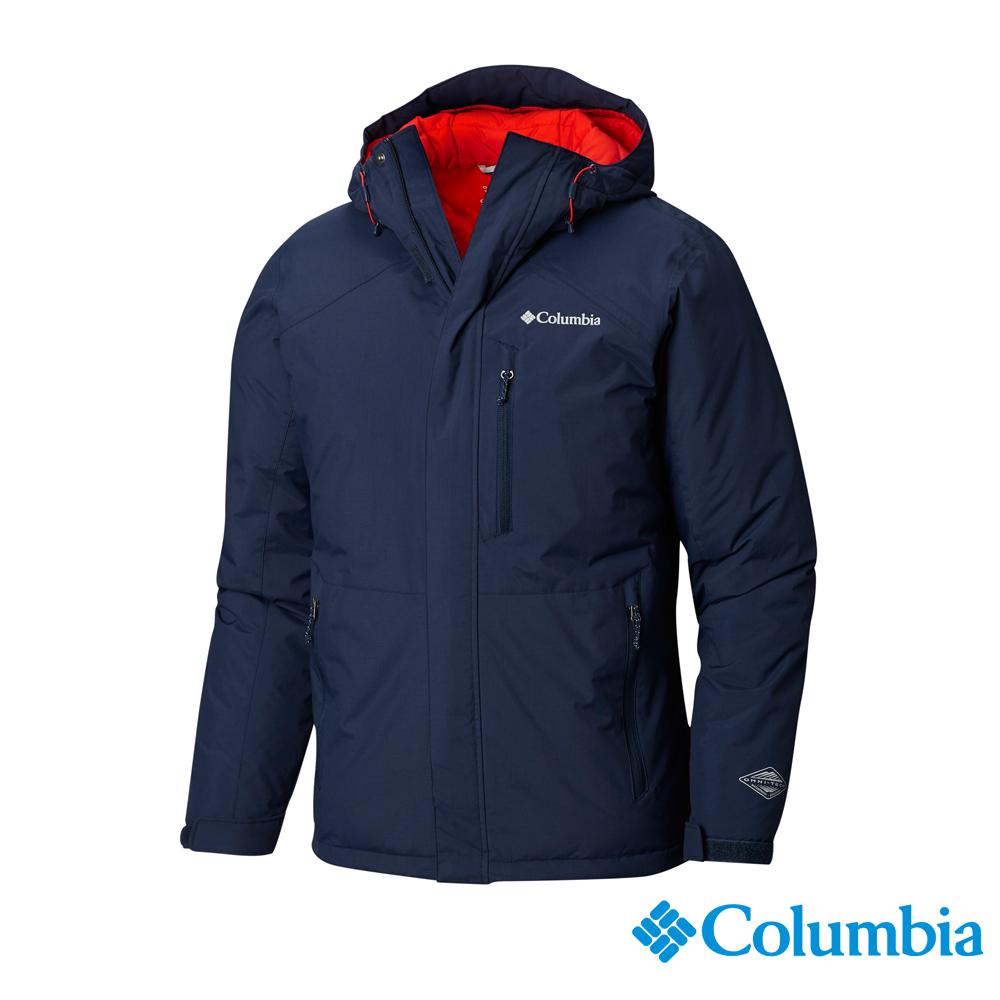 Columbia哥倫比亞 男款-Omni-HEAT鋁點保暖防水外套-深藍