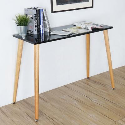 Homelike 莉絲北歐風工作桌-星耀黑-100x40x74cm