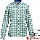 Wildland 荒野 0A71203-05灰綠色 女彈性抗UV格子長袖襯衫