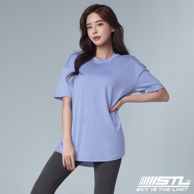 STL YOGA METRO SS 韓國瑜伽 運動機能LightQuickDry輕量快乾 地鐵寬鬆長版短袖上衣 阿拉斯加藍AlaskaBlue