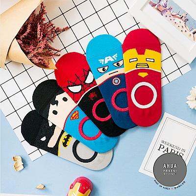 阿華有事嗎 韓國襪子 Q版超級英雄全版隱形襪  韓妞必備少女襪 正韓百搭純棉襪