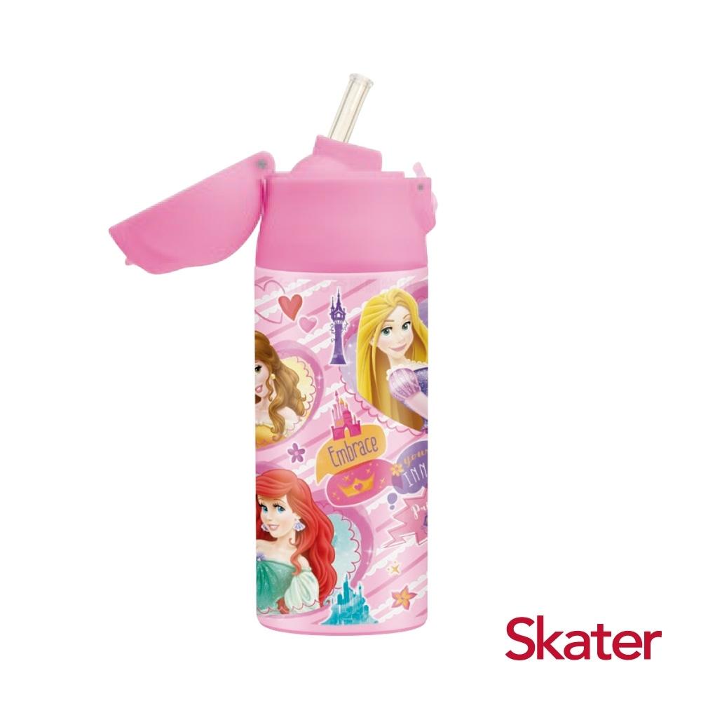 Skater不鏽鋼保溫吸管瓶(360ml) 迪士尼公主
