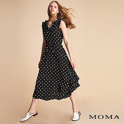 MOMA 荷葉圓點綁帶洋裝