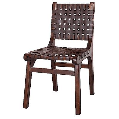 AS-蘇珊胡桃色餐椅-44x55x82cm