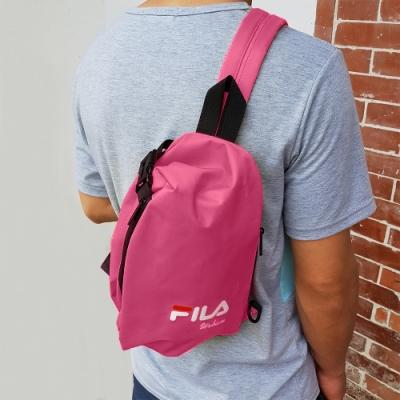 FILA 三角立體單肩包 斜背包 休閒包-粉色