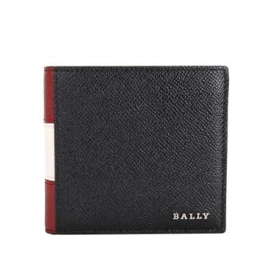 [時時樂限定]BALLY TRASAI 經典拼色小牛皮對折八卡短夾(兩色任選)