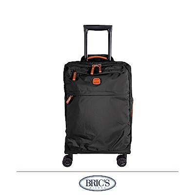 BRICS 義大利 20吋 登機箱 超輕量 小牛皮防水布箱 黑色