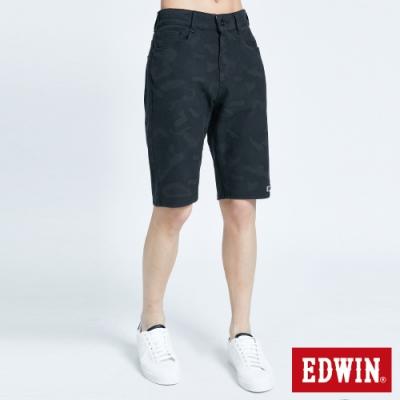 EDWIN JERSEYS 迦績 EJ3 透氣迷彩短褲-男-暗灰色