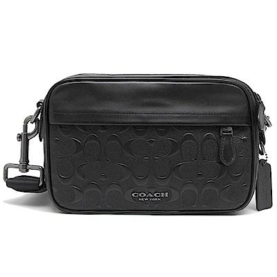 COACH 新款GRAHAM 浮雕壓紋 相機包/斜背包-黑色