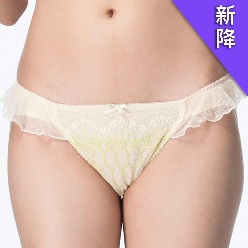 莎薇 FREE UP 親彈儷 M-LL 低腰三角褲(黃)