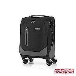 AT美國旅行者 20吋Kirby 可擴充大容量雙輪布面登機箱(黑)