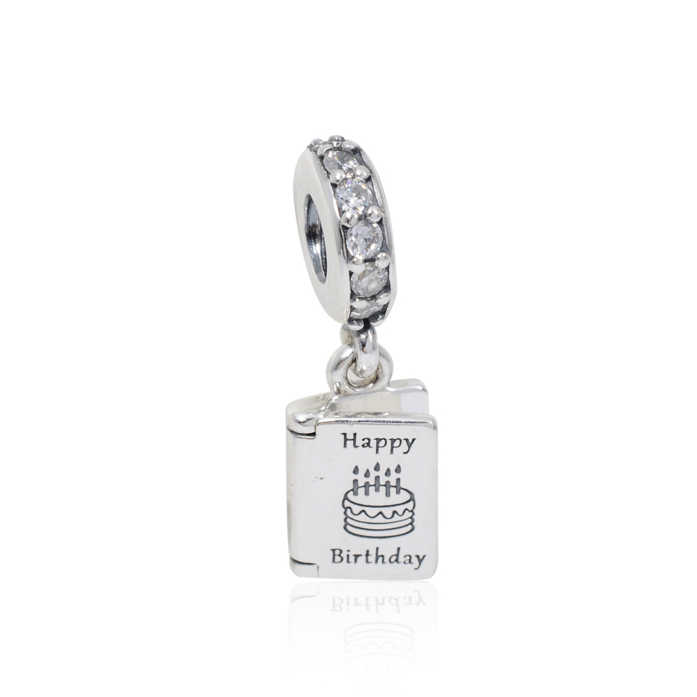Pandora 潘朵拉 生日快樂 垂墜純銀墜飾