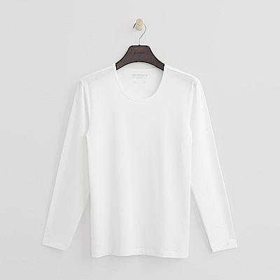 Hang Ten - 男裝 - ThermoContro系列-舒適保暖圓領上衣-白 @ Y!購物