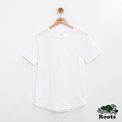 Roots -女裝-竹節棉短袖T恤-白
