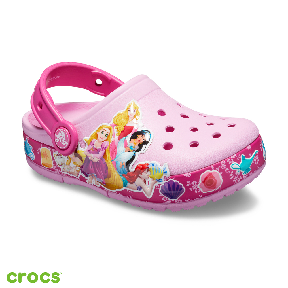 Crocs 卡駱馳 (童鞋) 迪士尼公主酷閃小克駱格-205496-6I2