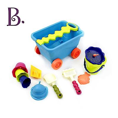 美國B.Toys 挖挖兵拉拉車(海洋藍)