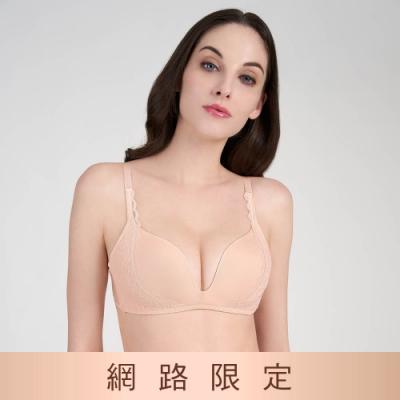 黛安芬-時尚嚴選系列 低V無鋼圈 B-C罩杯內衣 粉膚色