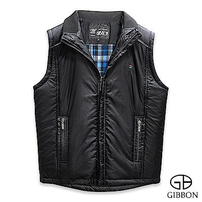 GIBBON 輕暖時尚鋪棉背心‧黑色