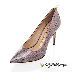 Lilylollipop-Luxury Space星空珍珠跟鞋--炫光粉