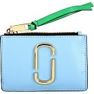 MARC JACOBS Snapshot 拼色防刮皮卡片夾/零錢包(水藍色)