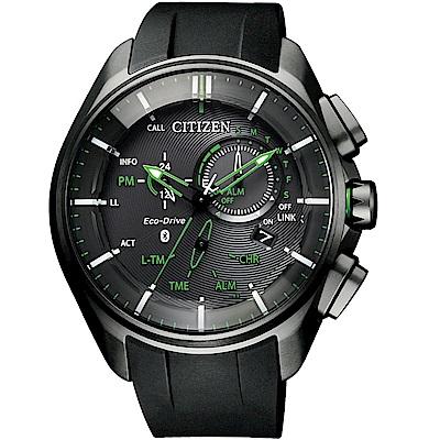 星辰CITIZEN藍芽光動能時尚限量鈦金屬腕錶(BZ1045-05E)-綠