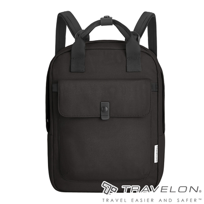 【Travelon美國防盜包】ORIGIN抗菌防盜後背包TL-43553黑/RFID/防割保護網/休閒旅遊包